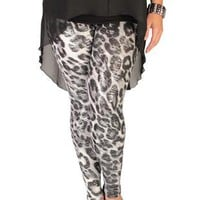 plus size cheetah print leggings - debshops.com