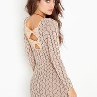 Brady Bow Dress - Nude in  Clothes Dresses Party at Nasty Gal