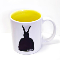 Frank Rabbit Donnie Darko movie fan Coffee mug Creepy Wake Up