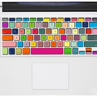 Multicolored Keyboard Decal ---  Mac Decal Macbook Decal Macbook Sticker Vinyl decal Mac sticker  iPad