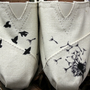Dandelion with Birds TOMS by StellarKicks on Etsy
