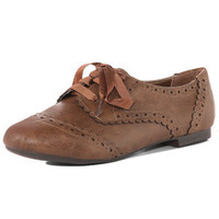 Tan scalloped edge brogues - Dorothy Perkins