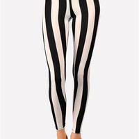 Beatle Juice Too Legging - White/Black