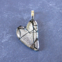 Silver Heart, Black Tie Affair, Heart Love Jewelry, OOAK - Desire's Fancy - 4065 -3