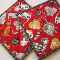 Pot Holders - Smiling Cats