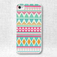 iPhone 4 Case, iPhone 4S Case, iPhone Case, iPhone Case 4/4S - Aztec Pattern - 070