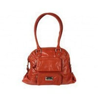 Leather Flame Satchel