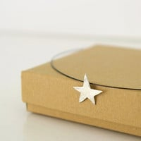 Sterling Silver Star Charm Necklace Constellation by Nafsika