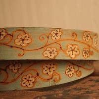 Ginger Belt - Leather in Sage, White and Antique Brown