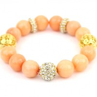 Peach Agate Bead Bracelet - Buy From ShopDesignSpark.com