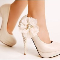 Diamond Flower Heel