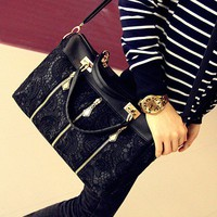 Fashion Black Lace Handbag Shoulder bag
