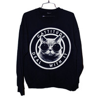 Cattitude Sweatshirt (Select Size)