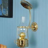 Lights | Oil Lamps | Wall and Shelf Lamps | Watchman's Brass Wall Lamp - Lehmans.com