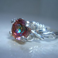 Twilight Mystic Topaz Sterling Silver Ring by PassionateJewelry