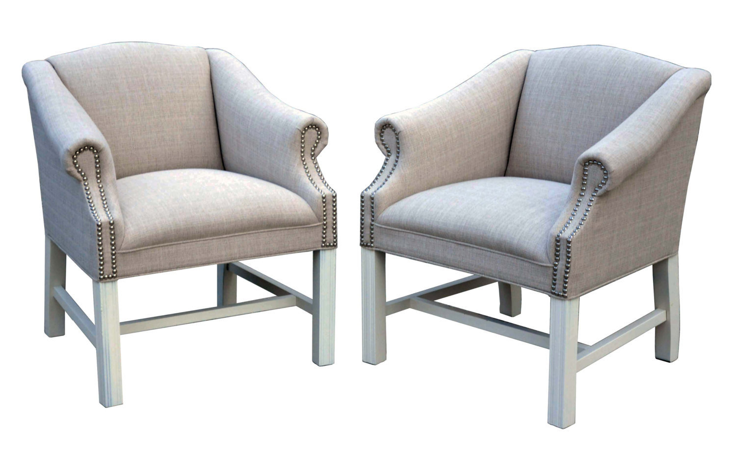 Vintage Linen Accent Chairs With from ccdeuxvie