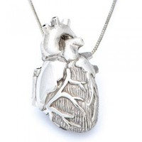 ShanaLogic.com - 100% Handmade & Independent Design! Anatomical Heart Locket - Jewelry - Girls