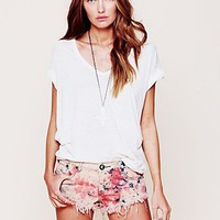 Free People Tie Dye Denim Cutoff