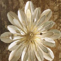 Flora Silver Mum Flower Wall Clock | Indie Retro Vintage Inspired Clocks| Poetrie