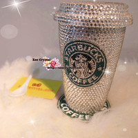 Winter Sale- Stylish BLING CRYSTALLIZED Starbucks MUG - for Drink or Decoration