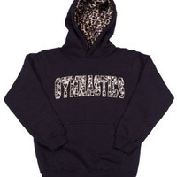 Amazon.com: Girls/Adult Sweatshirt Gymnastics Hoodie Black with Fur Lined Hood: Clothing