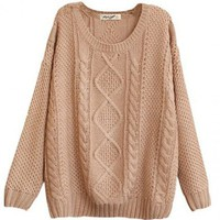 @Free Shipping@ Women Knitting Pink Sweater One Size FZ9846p from Voguegirlgo