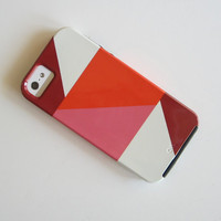 Modern iPhone 5 case l Color Block Triangles PINK l  VIBE geometric bold redtilestudio