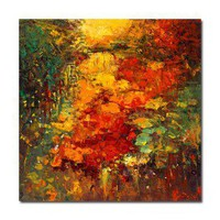 Stretched Handmade Abstract painting (0192-YCF104185) - $70.06