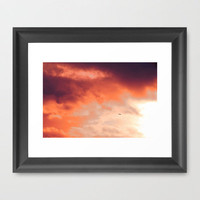 Storm Framed Art Print by Aja Maile | Society6