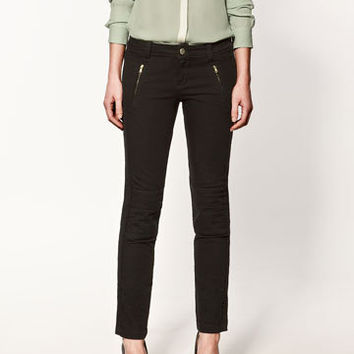 STUDIO TROUSERS WITH ZIPS - Woman - New this week - ZARA United States