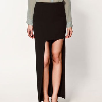 LONG ASYMMETRIC SKIRT - Collection - Skirts - Collection - Woman - ZARA United States