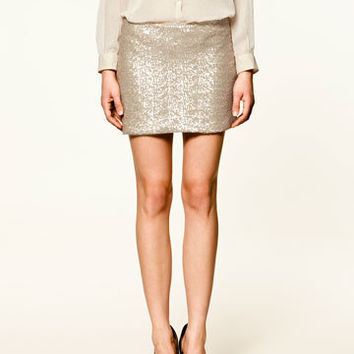 SEQUINNED SKIRT - Trf - Skirts - Collection - Woman - ZARA United States