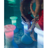 The Illuminated In Pool Barstool - Hammacher Schlemmer