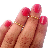 2 Above the Knuckle Rings -  Gold Above Knuckle Ring  - Set of 2 by Tiny Box