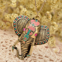 Exotic Elephant Necklace [AN0156] - $9.90 :