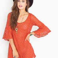 Pattie Crochet Dress - Rust in Clothes Dresses at Nasty Gal