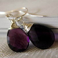 Amethyst Earrings AAA Grade Amethyst Quartz by anatoliantaledesign