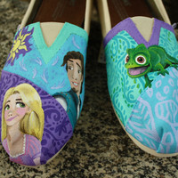 Tangled Characters Original Custom Acrylic Painting for Toms/Canvas Shoes