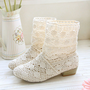 Summer ♡ Cream Knit Boots