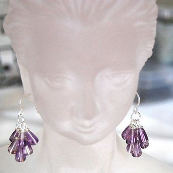VALENTINE'S GIFT,CHAKRA,FENG SHUI,GEMSTONE AMETHYST,EARRINGS