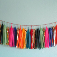 Jewel-tone Christmas  Tassel Garland (Mini)
