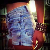Vinatage high waisted denim shorts by Jeansonly