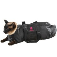 Amazon.com: Top Performance Nylon Cat Grooming Bag, Large, Black: Pet Supplies
