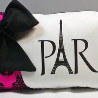 French Damask Paris Eiffel Tower Throw by NikkisSecretCloset