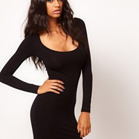 ASOS Mini Bodycon Dress with Long Sleeves at asos.com