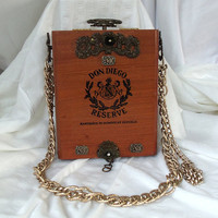Cigar box purse Couture Don Diego antique by HopscotchCouture