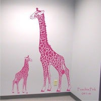 Giraffe Mother and Baby Wall Decals