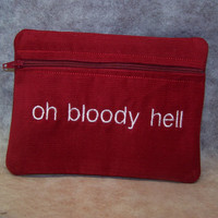 Oh Bloody Hell  Tampon & Maxi Pad Taxi Zippered by WoobiesGifts