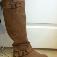 camel Colored Long Boots