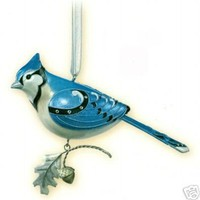 BLUE JAY #3 Hallmark 2007 3rd in the Beauty of Birds Series HOT Ornament